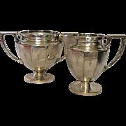 Silver Plate Nickel Silver Sugar Bowl and Creamer.