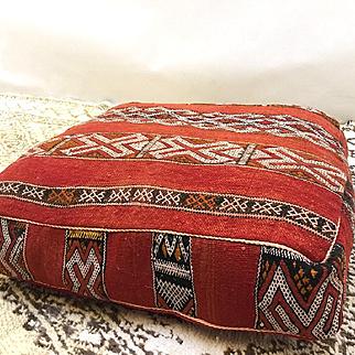 """Kilim Pouf, Handmade Moroccan Pillow pouf Ottoman 24"""""""