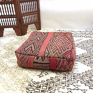 """Kilim Pillow, Moroccan Pouf 24"""""""