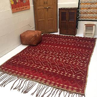 Vintage moroccan rug mat Vintage Moroccan Wool Straw Rug 6x9 Vintage Moroccan hassira carpet Berber mat rug