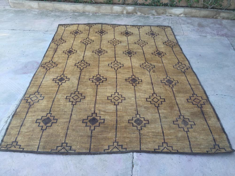 Large Mat Nomad U0026 Vintage Mauritanian Sahara Straw Mat, 10x13 Vintage Rug  Beni Ourain Tapis Berber, Alfombras Berberes, Berber Teppish