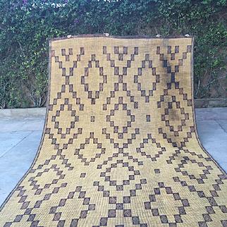 Large Sahara Mat Nomad & Vintage Mauritanian Sahara Straw Mat, 9x15 Vintage Rug Beni Ourain tapis berber, alfombras berberes, berber teppish