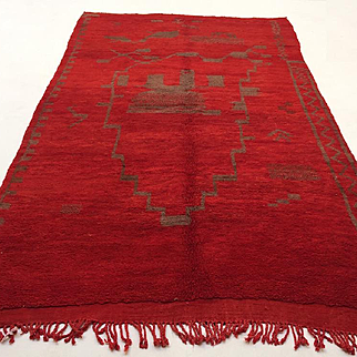 Red Moroccan Rug 5x8 Vintage Handwoven Wool Carpet Teppich Tapis Bohemian rug alfombras berberes berber teppish Contemporary rug