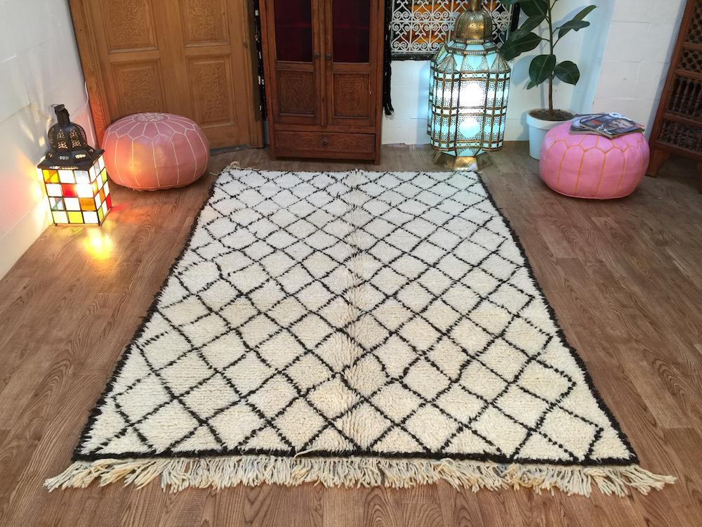 Lovely Moroccan Area Rugs Handwoven Berber Carpet Vintage Beni Ourain Rug 5x6  Oriental Rugs And Carpets Kelim Rug Old Beni Ourain Rug 30~ Years Old