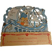 LARGE 1920's Valentine - Red Tag Sale Item