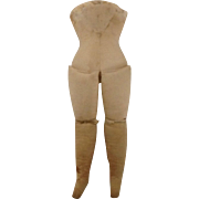 EARLY 1900's Muslin Cloth  Doll Body Only - Missing Arms