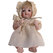 """LOVABLE  7-1.2"""" All Bisque Baby - Sleep Eyes - 1015-1920's"""