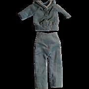Vintage Velvet Suit For A Boy Doll
