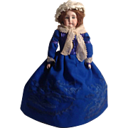 """BEAUTIFUL Early 15"""" Bisque Head Doll  #3  - Open-Closed Mouth"""
