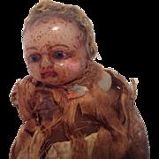 Unusual Vintage Wax Doll