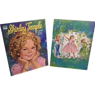 2  Mint 1976 Shirley Temple Paper Doll Books