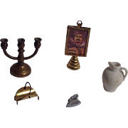 Small Group of Miniature Items for the Doll House