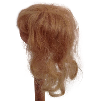 Vintage Blonde Mohair Wig For A Small Doll