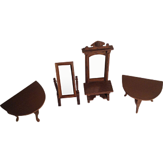 Vintage Wood Doll House Furniture