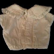 Vintage White Doll Blouse With Lack Trim