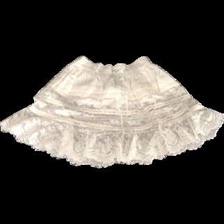 """Wonderful 14"""" Ruffled Lace Petticoat"""