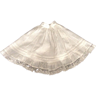 """Lovely 12"""" Cotton Petticoat With Lace Trim"""
