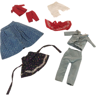 Group Of Vintage Small Doll Clothing