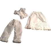LOVELY Chemise, Pantaloons And Petticoat For Your Favorite Doll
