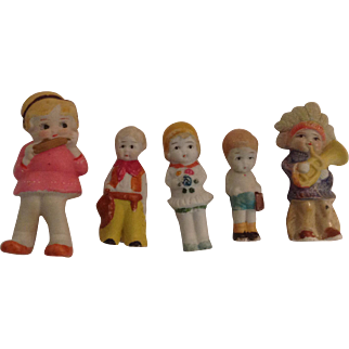 5 Miniature Dolls - Made in Japan