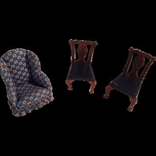 2 Tynie Toy Chairs Plus A Cloth Chair