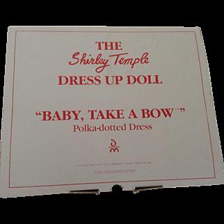 "Shirley Temple ""Baby Take A Bow"" Dress - Danbury Mint - 1966"