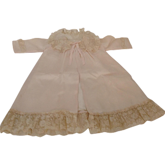 """Lovely 23"""" Child's Silk Blend Coat With Lace Trim"""