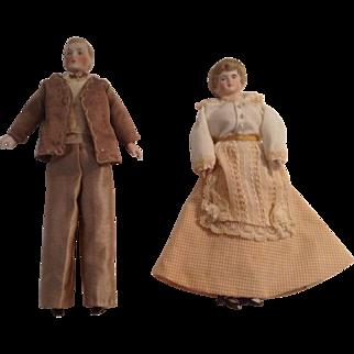 WONDERFUL Turn Of The Century Doll House Couple