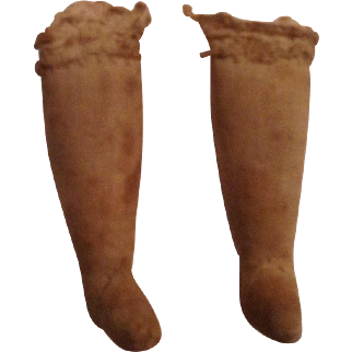 1890's Cloth Lower Legs For An Antique Doll