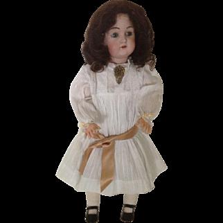 """VERY, VERY NICE 23"""" J. D, Kestner Bisque Head Doll #215 - Fur Eyebrows"""