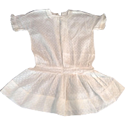 "Very, Very Nice 16"" White Dotted Swiss Drop-Waist Doll Dress"