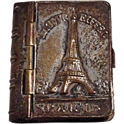 Small Metal Book With Pictures of France - Ideal For French Fashion Dolls