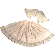 Early 1900 Doll Pantaloons And Petticoat With Lace Trim
