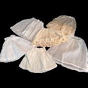 6 Vintage Doll Petticoats