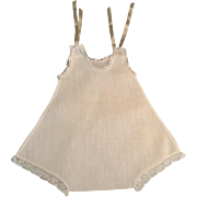 """10-1/2"""" One-Piece Doll Undergarment With Lace Trim"""