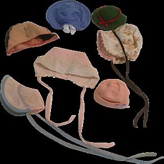 7 Factory Doll Bonnets & Hats