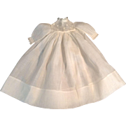 "DARLING 13"" Vintage White Batiste Doll Dress With Lace Trim"