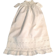 l Vintage Christening Gown For A Small Antique Doll
