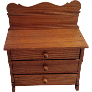 Very Nice Oak Chest Of Drawers For A Larger Doll House