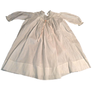 "Nice 20-1/2"" White Batiste Child/Doll Dress With Lace Trim"