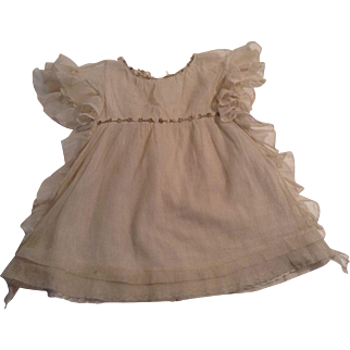 """Very Nice Vintage 14"""" Net Doll Dress With Ruffles"""