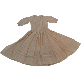 """Lovely 21"""" Dimity Doll Dress With Lace Trim & Tucks"""
