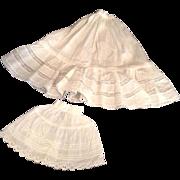 2 Very Nice Vintage Doll Petticoats