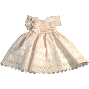 "Lovely 20"" Cotton Eyelet Doll Dress With Bretellas"