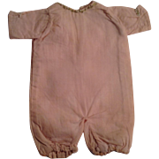 Darling Pink Romper Suit For A Small Doll