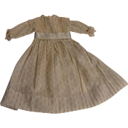 "12-1/2"" Light Weight Cotton Doll Dress With Lace Trim"