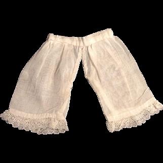 "5"" Vintage Doll Pantaloons"