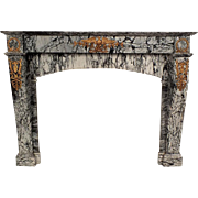 1890's Empire Style Marble Fireplace