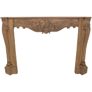 French Louis XVI-Style Bleached Wood Fireplace Mantle