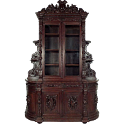 Stunning 1880's French Renaissance-style Carved Oak Wood Buffet